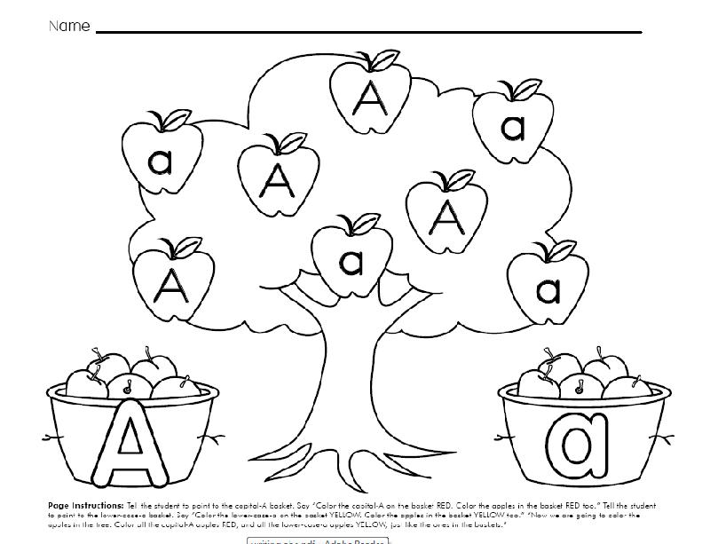 Letter Aa Worksheets Alphabet worksheets
