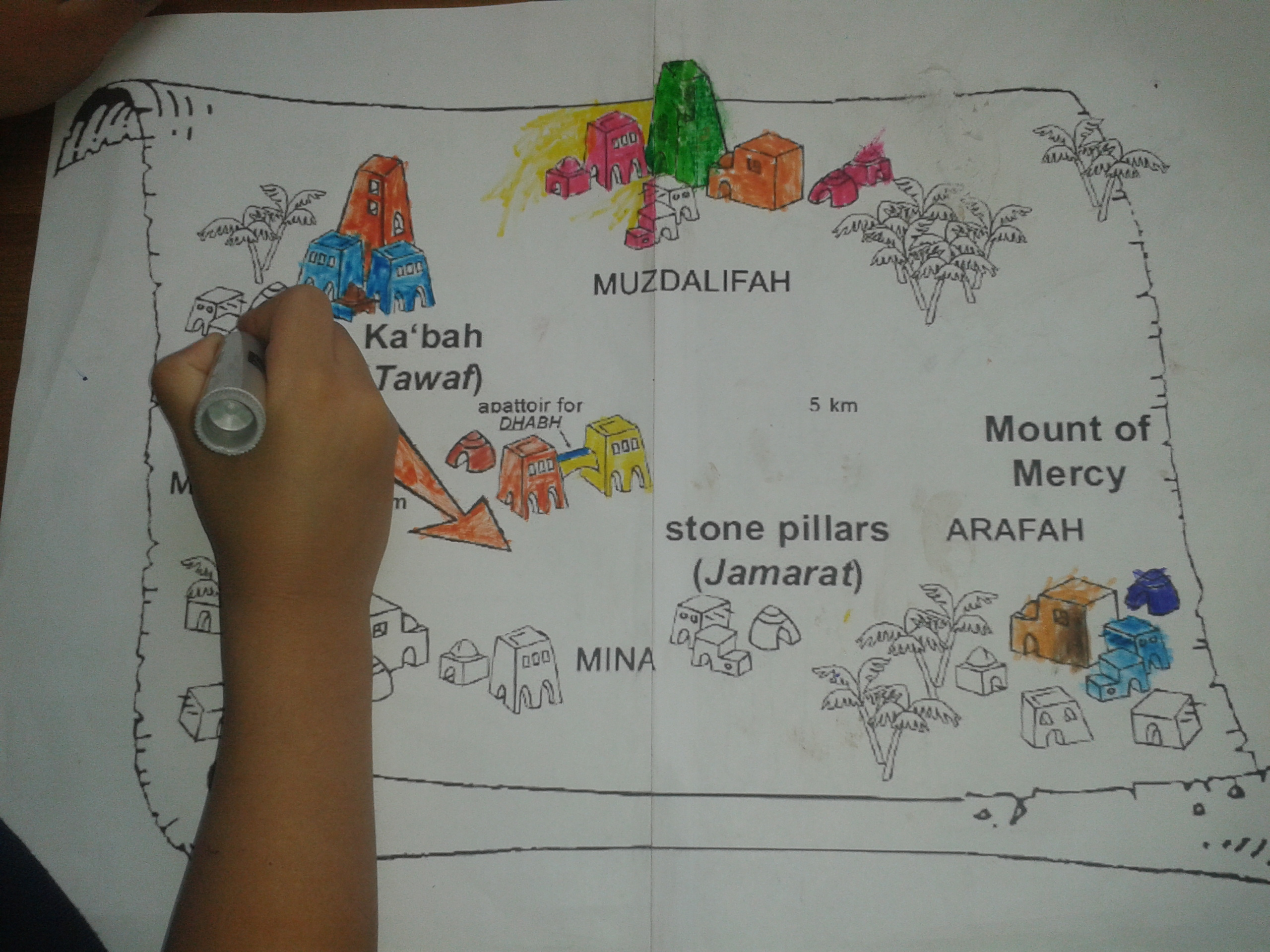 After They Finished Colouring I Read The History Of Hajj From Tj Website And That Was It For Today