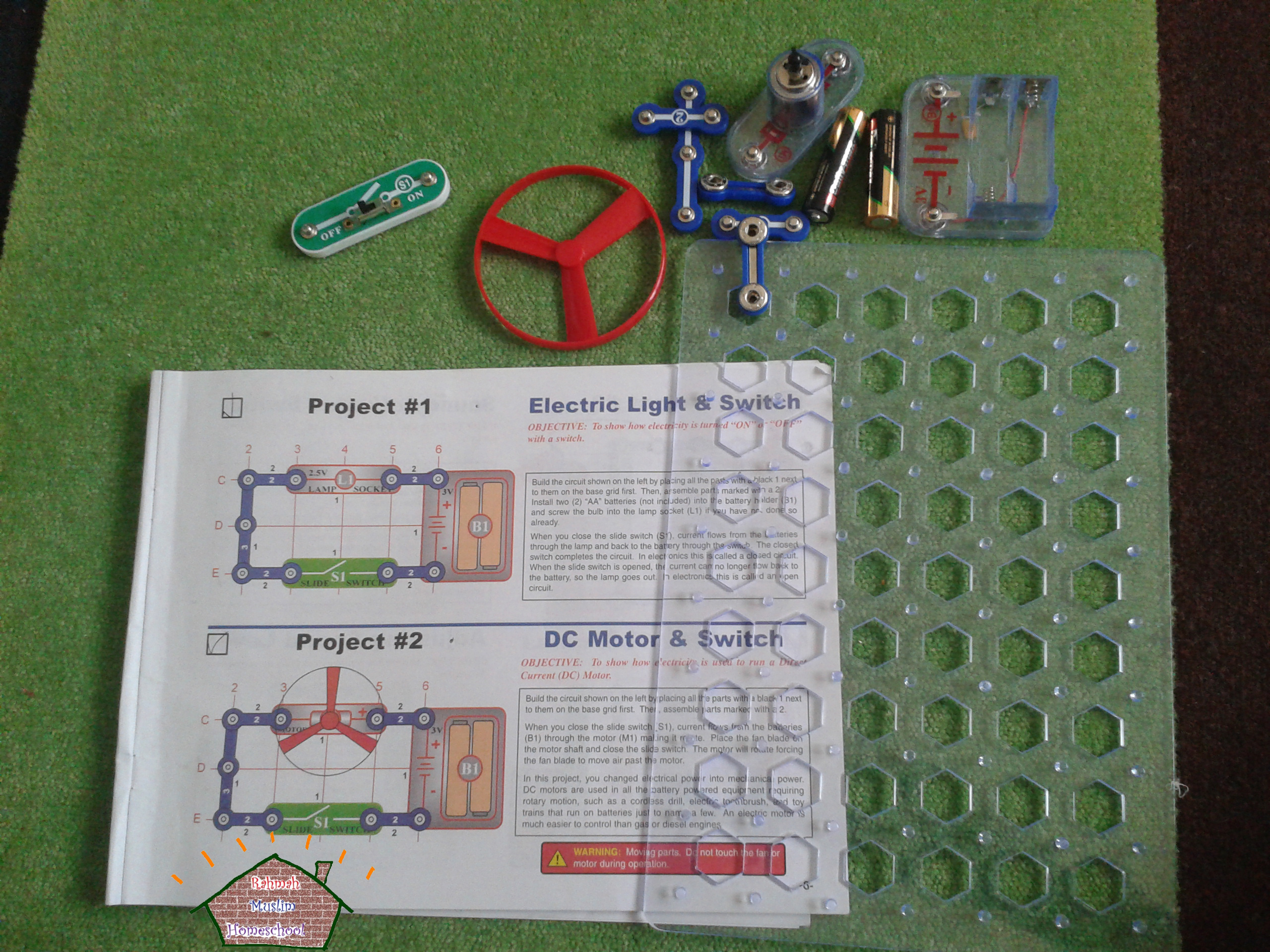 Electronics For Kids Project 2 Dc Motor And Switch The Resources Circuit You Project2armh