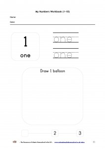 My Numbers Workbook 1-10-p11