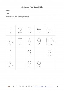 My Numbers Workbook 1-10-p8