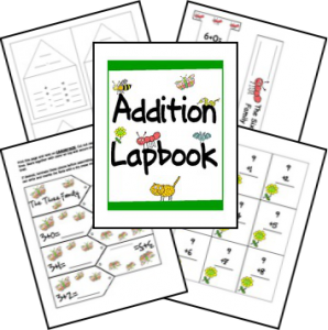 addition lapbook cover