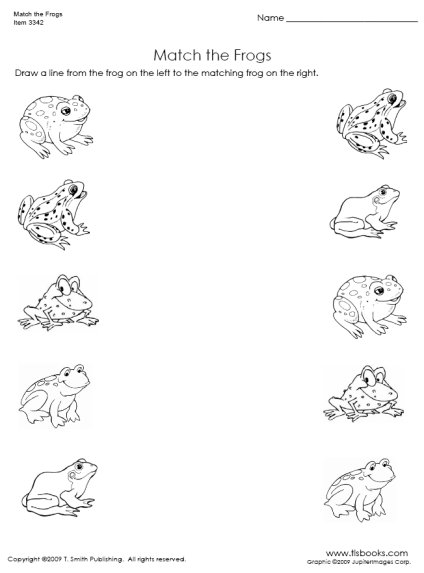 Free Matching Objects Worksheets For Preschoolers The