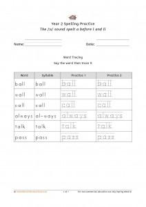 Y2 Spelling Practice Spring Wk8